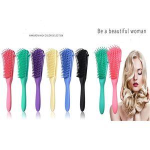 2020 Hot Detangling Brush for Natural Hair Hair Detangler Brush for Afro America Kinky Wavy, Curly, Coily Hair Customized Logo Accepted