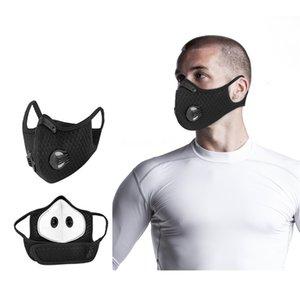 Mfhcf oscuridad PM2,5 polvo lavable carbón activado equivalente a prueba de polvo de algodón para enmascarar unisex libre # QA906
