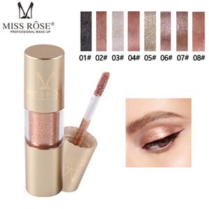 Venda Hot Long Last Miss Rose 8 da sombra das cores Líquido Sombra Glitter Eyeshadow líquido mineral Eyeliner Glitter Líquido Eyeliner