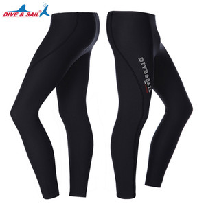 DiveSail Erkekler Kadınlar Kalınlaşmak 3mm Neopren Dalış Pantolon Tüplü Şnorkel Sörf Kış Dalgıç Pantolon Dive Uzun Pantolon Isınma