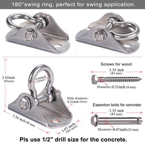 Aerial Swing Hangers 500kg Capacity Ceiling Mount for Yoga Hammock Swing Chair Sandbag Punchbag 304 Stainless Steel