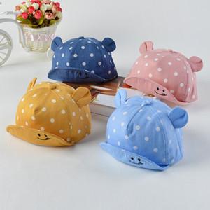 Cute Baby Hats Baby Boys Girls Kids Polka Dot Peak Hat Smiling Face Wave Point Baseball Cap Sunhat casquette enfant Baby Hat