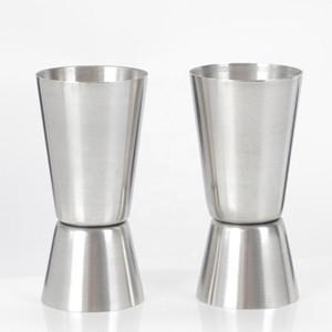 تصميم جديد جودة عالية الفولاذ المقاوم للصدأ 25 / 50ML بار للنبيذ قياس كأس مزدوجة الوالج لشريط الأدوات