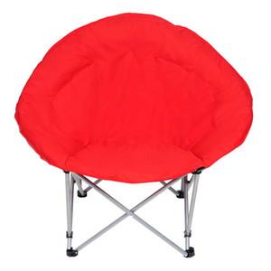 US STOCK Oversize Pliable rembourré Moon Chair rouge Patio Bancs Mobilier d'extérieur