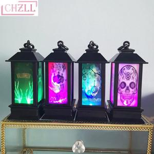 CHZLL 1pc LED lanterna di Halloween lampada a sospensione luce per la casa di Halloween LED Props Halloween decorazione dell'interno lampada esterna 10pcs / lot