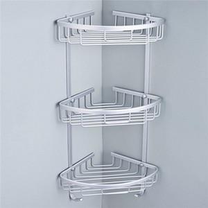 Prateleiras 1/2/3 LayerSpace Alumínio Banho Estante de Canto Triangular sabão shampoo Cosmetic armazenamento Rack