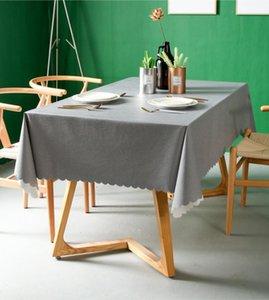 Impermeabile Tovaglia Solid Color Table copertura rettangolare Anti-calda della Tabella di olio panno Carpet del pizzo di Wave Dining Desk Coat PVC