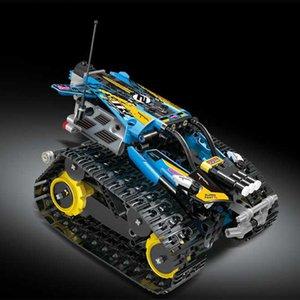 Assemblato giocattolo educativo Building Blocks Robot modello elettrico di controllo Toy Car Building Blocks bambini a distanza