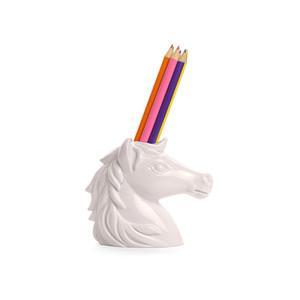 Bolígrafo unicornio conjunto de lápices de arco iris blanco decoración de unicornio decoración papelería color plomo Artículos de novedad Artículos de cumpleaños para la decoración del hogar