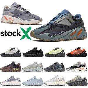 2020 Stock X Scarpe da corsa Kanye West 700 v2 Magnete caldo Carbon Blue Orange Bone Wave Runner 700s Donna Uomo Scarpe da ginnastica Scarpe da ginnastica