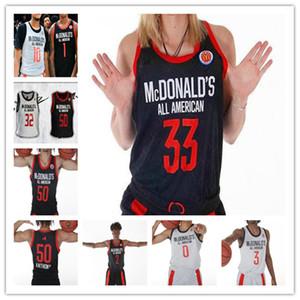 Пользовательский 2019 Мужчина баскетбольного Макдональдс All-American Джерси Коул Энтони Скотти Льюис Джош Грин Оскар Tshiebwe Precious Achiuwa Эдвардс 4XL