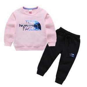 Горячие дизайнерские бренды Детские осенние Одежда Набор детей мальчик девочка Топ Брюки 2 шт костюмы костюмы Костюмы Enfants 1-8T лет Enfants наборы