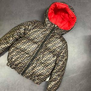 Зимние пальто мальчики куртка дети вниз пальто Водонепроницаемых курток с капюшоном детских зимнего комбинезона парок девочками Двусторонний пальто для детей Одежды