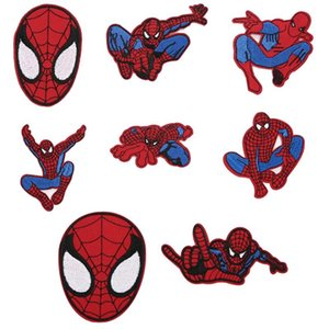 Best Selling 1 Piece Of Cartoon Fabric Made Of Clothing Accessories Super Hero Spiderman Embroidery Cloth Patch Patch Badge