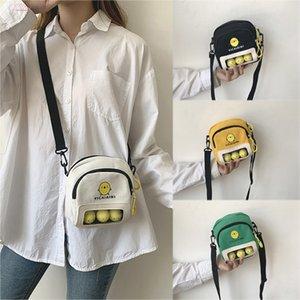 Girls Messenger Bag Cute Chick Dolls Handbag Women Contrast Color Canvas Printed Bag Versatile Shoulder Messenger Bags N