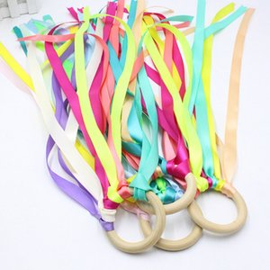 Montessori Style Sensory Toy Baby Dance Ribbon Ring Bellfor Newborns Upwards Develop Colour Recognition Sensory ADHD Autism