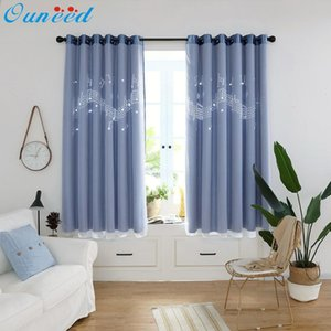Ouneed Tulle Curtains * musical note Hollowing Out Europe and America style Curtain Drape Panel Sheer Curtains Scarf Valances 2020 Y200421