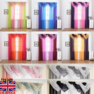 Voile Curtain Swags All Colours Pelmet Valance Net Curtains Voile 15 Types