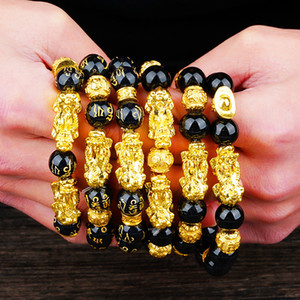 2019 men's gold brave troops Bracelet 3D Hard gold Transfer beads Bracelets