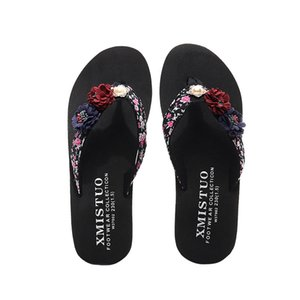 Women Slippers Summer Ladies Shoes Fashion Flowers Flip Flops Bohemian Style Slippers Beach Sandals Bath New