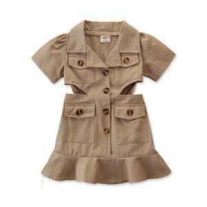 Ins 2020 Summer girls dresses fashion kids dresses princess dress girls dress kids designer clothes girls kids clothes retail B1506