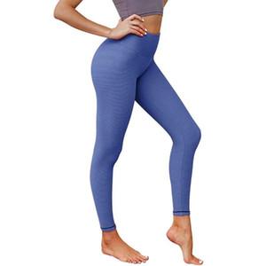 Laufende Frauen Quick Dry Striped Druck Push Up Fitness Sports High Waist Übung täglich Yoga Pants Workout Gym elastischen Nylon