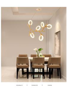 Journal de restaurant Lustre LED salle à manger éclairage blanc lampes acryliques en anneau Salon moderne suspendu lumières enfants éclairage