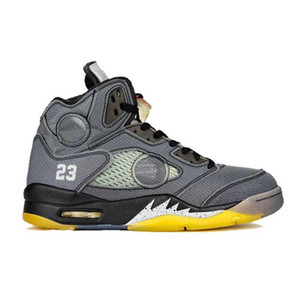 5s agujero de costura en la lengua 5 negro gris reflexión zapatos de baloncesto Top versión de fábrica para hombre zapatillas nuevas 2020 zapatillas con caja