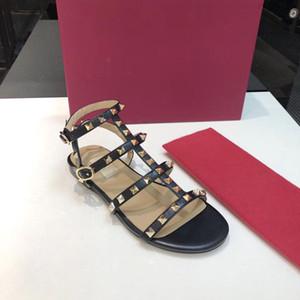chaussures réelles! 2797 sur mesure 34/40/41 / cuir véritable or t sandales plates à lanières designer classique mode femme été
