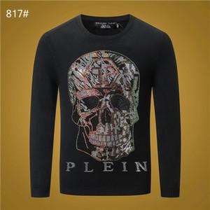 Philip Plain Herren Sweater Luxus Brief Damen T-Shirt der Männer Frauen Pullover mit Kapuze Langarm Pullover MarkeHoodie Street Wear
