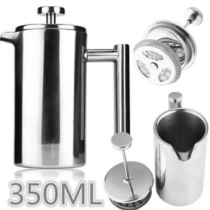Uarter Edelstahl Isolierte Kaffee Tee-Maschine French Press Kaffeekanne Moka Maker mit Filter Double Wall, 350 ML