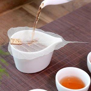 Promoción 1pcs Pure Tea Leaf Bodhi Filtro personalidad creativa Marcadores adorno Metope hueco retirar las hojas de la personalidad Filtrar