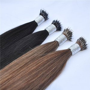 "Human Remy Nano Ring Links Haarverlängerungen 200g 1g s 16 ""18"" 20 ""22 '' Blonde Keratin Straight European Micro Perlen Haar 200s"