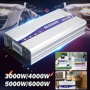 Car Inverter 12V 220V 12V a 220V trasformatore Intelligent Voltage 3000/4000 / 5000 / 6000W onda sinusoidale pura Solar Power Inverter