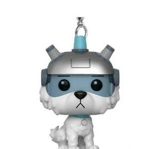 Rick and Morty Movies Anime Funko POP Pendant Keychain Snowball Dog Snowball Dog