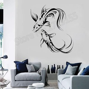Koi Carp Asian Japanese Fish Buddhism Wall Stickers Vinyl Removable Modern Home Decor Interior Mural Unique Gift DIY