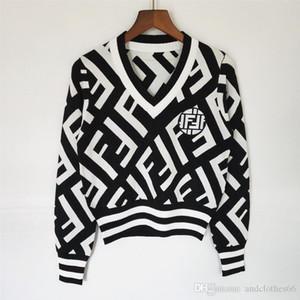 2020 дизайнер роскошь женская sweaterWomen леди -neck кнопку с длинным рукавом джемпер свитер завышением люкс Женщины одежда женщин перемычкой