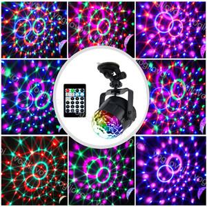 Efectos del LED en el automóvil 5W 15 Color Voice ControleRed Laser ABS RGBP Magic Ball para Navidad Halloween Brightday Party Stage Lighting DHL