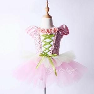 Çocuk Klasik Bale Giyim İspanyol Dans Kostüm Pullu Tutu Bale Leotard Dans Elbise Kız Saia Longa Bale Elbise