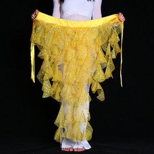 Stage Wear 2021 Women Dancewear Belly Dancing Clothes Fishtail Skirt Adjustable Fit Wrapped Belt Dance Sequins Hip Scarf