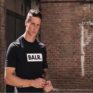 Estate Nero Bianco O-collo Maniche corte supera i T Abbigliamento Uomo Balr. magliette