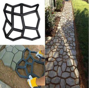 Сад DIY Path Maker Mold Многоразовые Бетонные Цементный Камень Дизайн Paver Walk Mold DIY Многоразовые Бетонные Кирпичные Формы