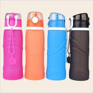 Складная легкая бутылка для воды для путешествий портативный Силиконовый поход бутылка для воды складная герметичная бутылка для спорта на открытом воздухе