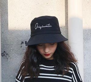 Chapeau de pêcheur Femme été sauvage Art japonais noir Chapeau de bassin chic Chic
