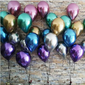 Balloons Metallic Latex Ballon Inflatable Air Wedding Party Decoration Balloons Pearly Metal Alloy Photograph Props 50pcs set 12inch EZYQ440