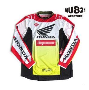 FOX Uzun kollu tişört yokuş aşağı takım off-road motosiklet DH dağ bisikleti Jersey ceket erkekler çabuk kuruyan uzun kollu