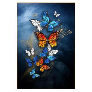 Dpsprue 5D Diy Полный площади Круглый камень Смола Алмазный Картина Вышивка крестом животных Бабочка 3D вышивки Diamant Мозаика подарок