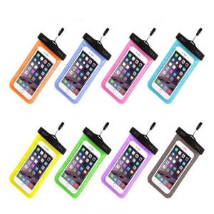 يونيفرسال لفون 7 6 6S بالإضافة إلى سامسونج S7 S8 مقاوم للماء حقيبة حالة الذكية الهاتف الخليوي دليل على المياه حقيبة الجافة تصل إلى 5.8 بوصة