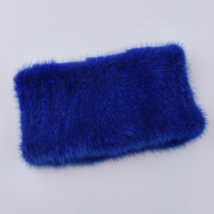 Moda para mujer bufanda de piel Bufandas de punto de visón Cinta de piel caliente Para Mujer Mink Real Minkler Señoras Natural elasticidad de piel de Visón bufanda