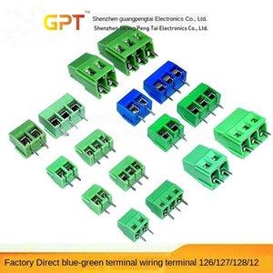 X0WRQ de estilo Perno PCB Terminal Block KF128-2P DG128 XF128 5.08 mm 300V / 10A can-estilo Perno Panel Wiring Board placa de circuito PCB Terminal Block K